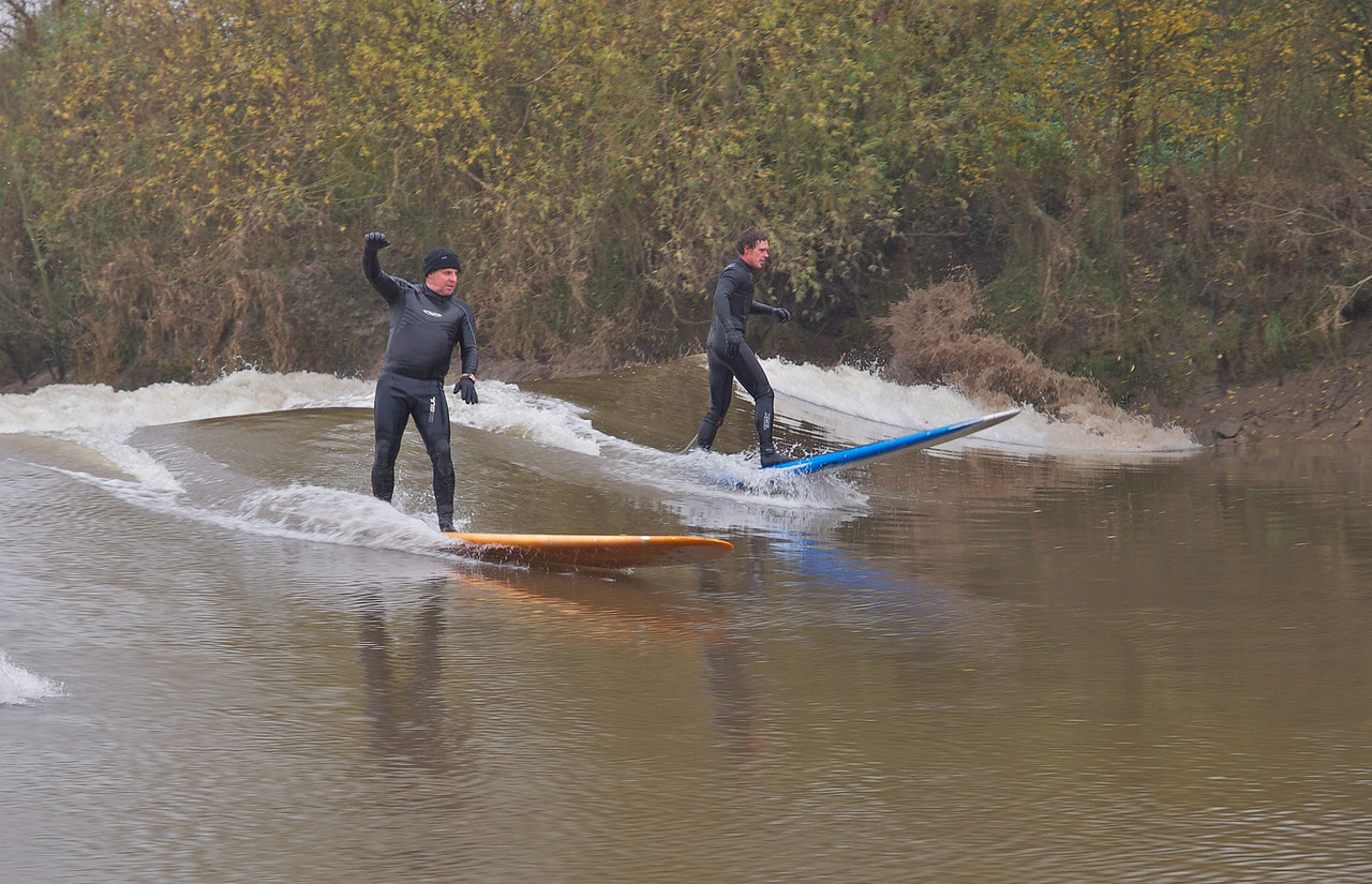 This next selection of shots shows some great bore wave action and the hazards of river surfing.