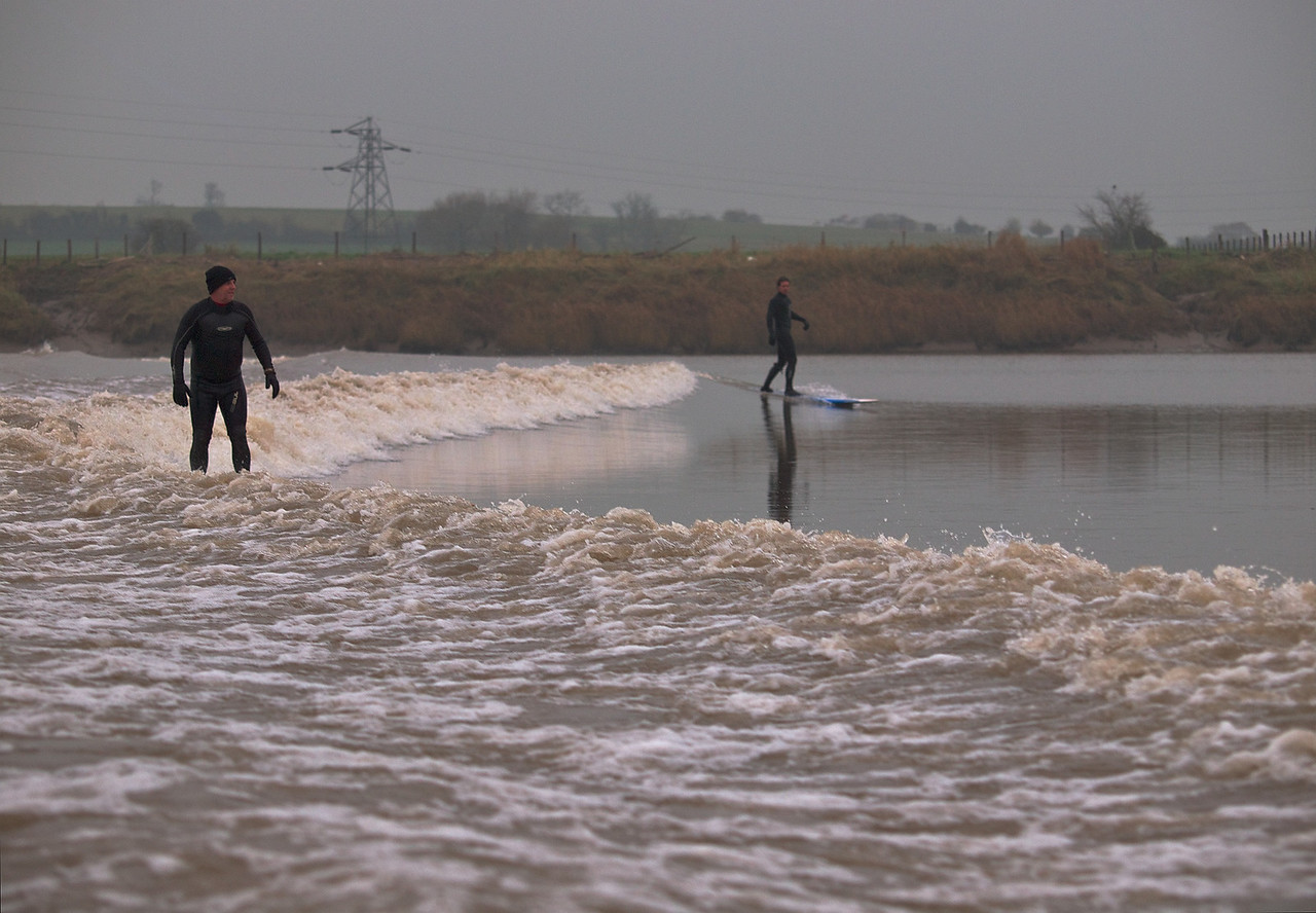 Never a straight wave, the Severn Bore and river also never ceases to amaze.