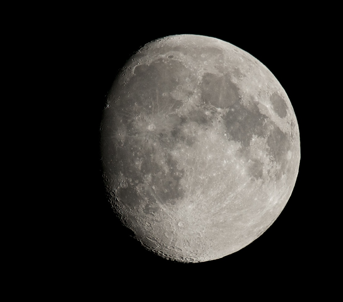 19 July 2013 waxing moon. Captured with Olympus OM-D & 75-300mm lens at full focal length. The technical facilities of this camera bring smartphone technology together with dslr. F6.7 (max) @ 1/250s and ISO 200. Focusing was as simple as touching the lcd on the appropriate moon crater and hitting the shutter release. Whilst a relatively slow lens (f4.8 at best) the sharpness of the moon is the best I have achieved & surpassed the E5 & 90-250mm. Btw thats a £5k lens....