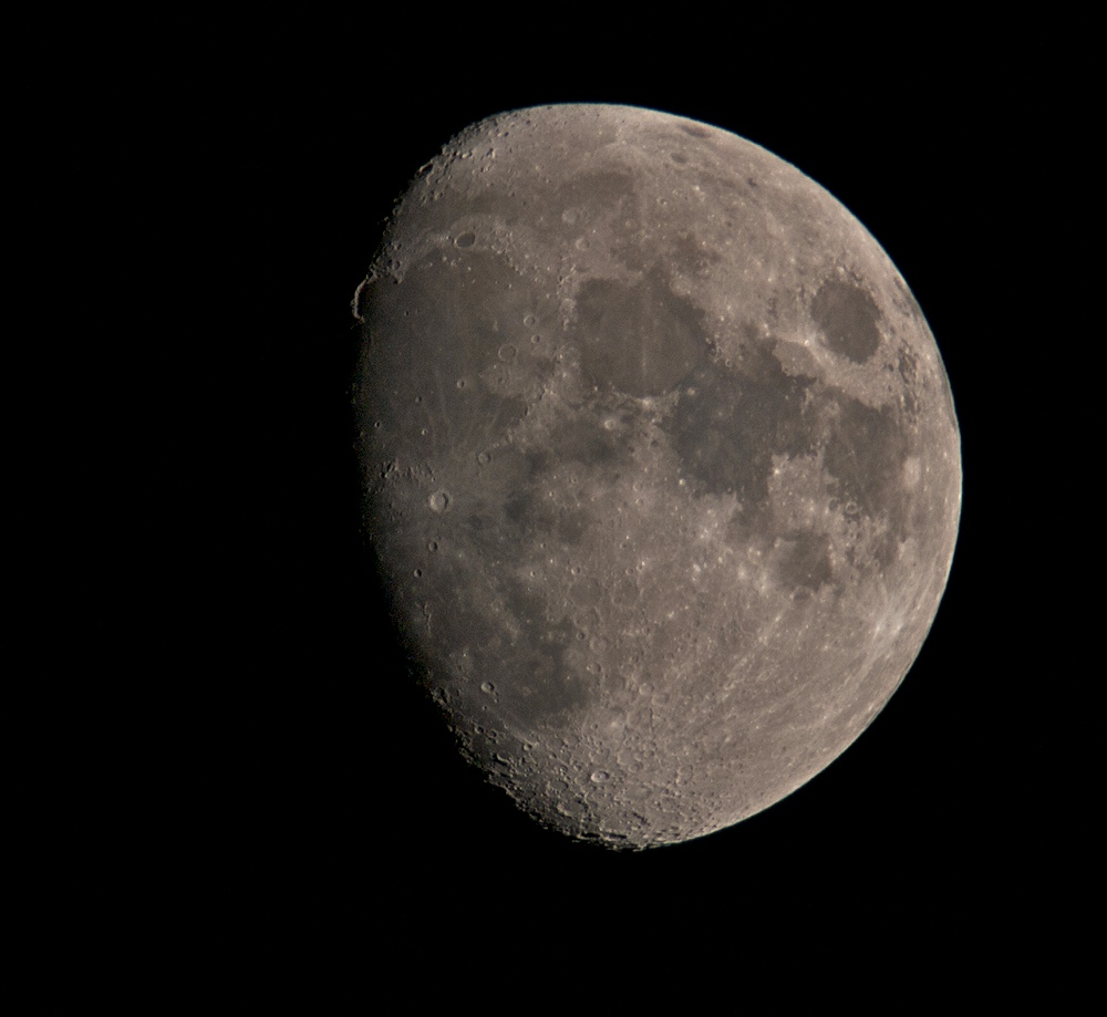 May 23 2010. Incredibly clear skies and probably the clearest lunar shot I have captured with camera. Olympus E3, 90-250mm & x2 TC