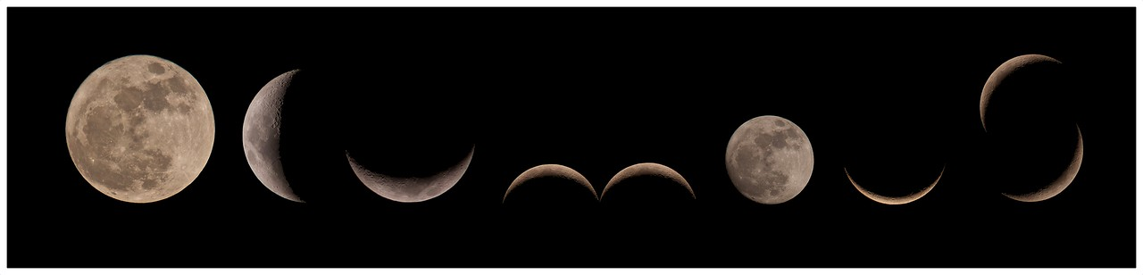 Olympus Lunar font. Getting creative through my E5 lunar cycle shots, captured from the last 'Supermoon' cycle. All individual lunar phases captured with E5 & 90-250mm + x2 TC. Put together in Pixelmator.