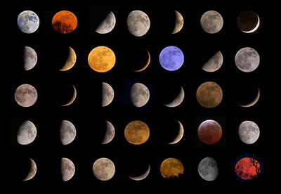 Colours of the Moon