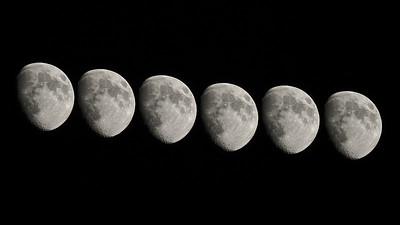 Gibbous Moon Composite 72%