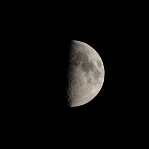 First Quarter Moon 50%