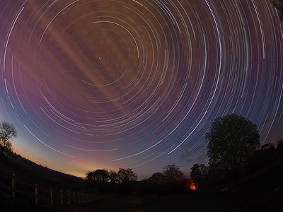 Fishy star trail