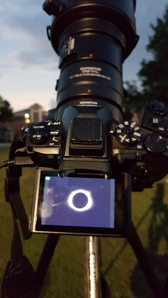 Solar Eclipse - Mark at work