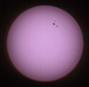 March 02 2011. Photo of the sun captured with Olympus E5, 90-250mm lens with x2 teleconverter (EC-20) using dramatic tone art filter. Lens fitted with solar filter (hand made using Baader film). Sunspot 1164 is huge. Its largest point could swallow 2/3 earths....amazing.