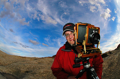 Me & my 4x5 Wista Field Camera