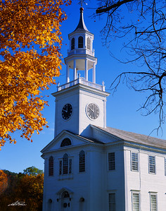 Autumn Church in New England