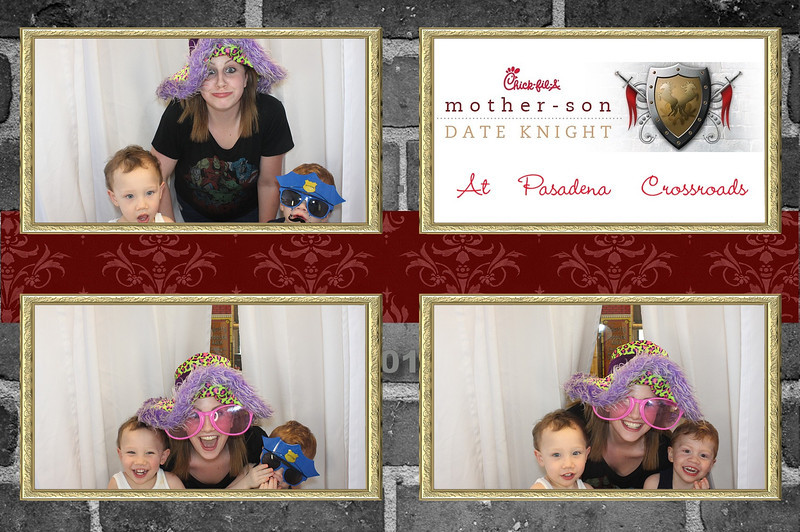 Mother/Son Date Knight - Chick-Fil-A Pasadena Crossroads 2014