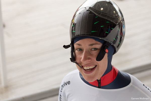 Lizzy Yarnold at the Lake Placid World Cup.