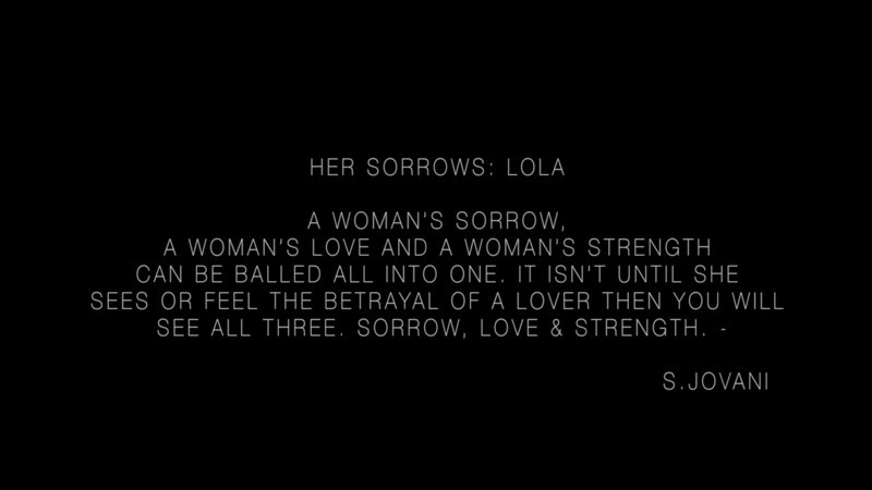 Her Sorrows Part 1- Behind the Scenes