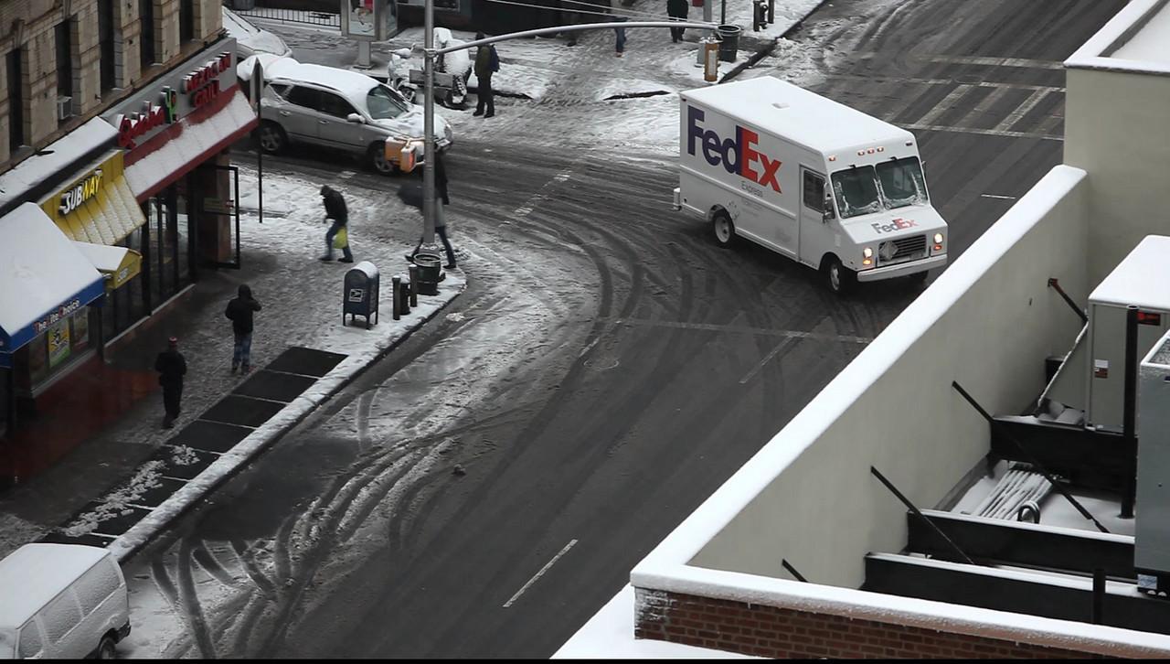 Snowy Manhattan 12-19-2008