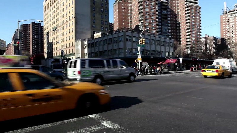 Daytime 23rd and 8th hand held crossing ave.<br /> The Compression artifacts are not present on the original 1920 x 1080 shot