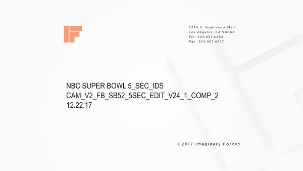 NBC Superbowl ID- 2017