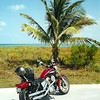A vintage-looking shot of my Honda Shadow 1100 near Key West.