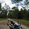 Bandit 1200, Triumph 600TT, Honda Inteceptor on a hunting trail in mid Florida with friends.