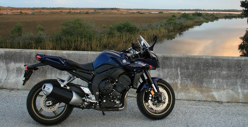 My Yamaha FZ1 at Pine Island in Florida