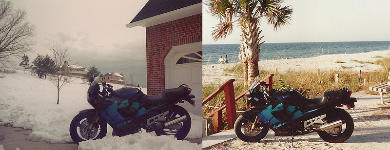 My Katana 600, 1993, in two places (obviously) the same year.