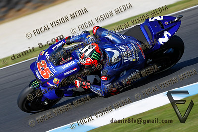 World Moto GP Championship. Round17 @ Phillip Island. Australia. Michelin Australian Motorcycle Grand Prix. Saturday. 27.10.2018. Second on the satarting grid is #25 Maverick VINALES (ESP) Movistar Yamaha MotoGP. © ATP / Damir IVKA