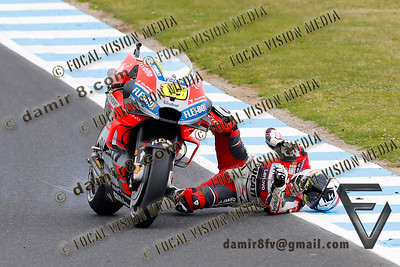 World Moto GP Championship. Round17 @ Phillip Island. Australia. Michelin Australian Motorcycle Grand Prix. Saturday. 27.10.2018. #19 Alvaro BAUTISTA (SPA) Ducati Team, crashed at turn10 during qualifying.© ATP / Damir IVKA
