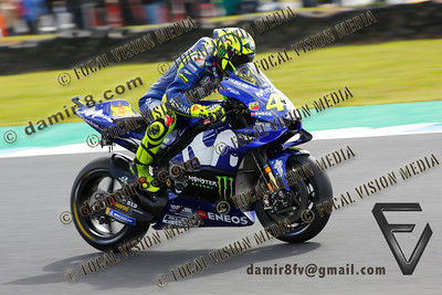 World Moto GP Championship. Round17 @ Phillip Island. Australia. Michelin Australian Motorcycle Grand Prix. Saturday. 27.10.2018. #46 Valentino ROSSI (ITA) Movistar Yamaha MotoGP, quailified 7th. © ATP / Damir IVKA
