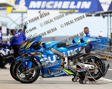 World Moto GP Championship. Round17 @ Phillip Island. Australia. Michelin Australian Motorcycle Grand Prix. Thursday. 25.10.2018. SUZUKI Ecstar Moto GP Team.© ATP / Damir IVKA