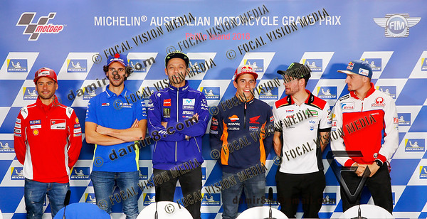 World Moto GP Championship 2018. Round17 @ Phillip Island. Australia. Michelin Australian Motorcycle Grand Prix.  Thursday. 25.10.2018. Press Conference. .© ATP / Damir IVKA