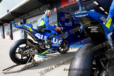 World Moto GP Championship. Round17 @ Phillip Island. Australia.  Michelin Australian Motorcycle Grand Prix. Thursday. 25.10.2018.  SUZUKI Ecstar Moto GP Team © ATP / Damir IVKA