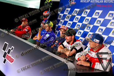 World Moto GP Championship 2018. Round17 @ Phillip Island. Australia.  Michelin Australian Motorcycle Grand Prix. Thursday. 25.10.2018. Press Conference.  © ATP / Damir IVKA