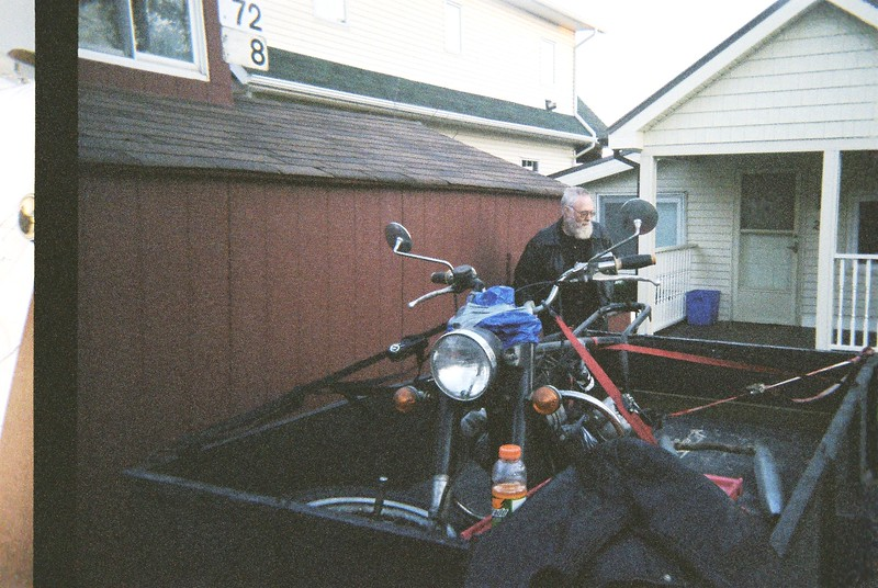 Buck Buchanan at Gord's late 2005 trip to Ohio to purchase the Eldorado.