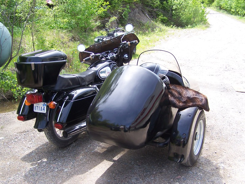 Home built sidecar, Wixom bag set and fairing.