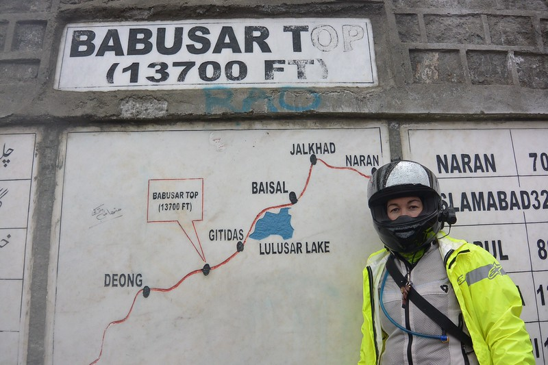 We made it through snow, sleet, and a little rain to the Babusar Top 13700 ft up and the bikes made it.