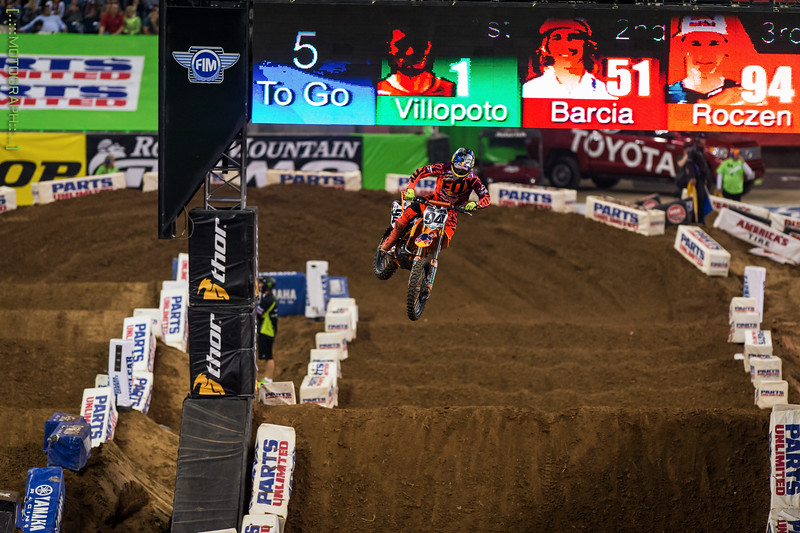 Ken Roczen finished 3rd on the night