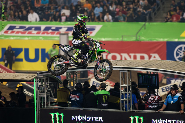 Dean Wilson nurses a separated shoulder after gong down hard in the whoops