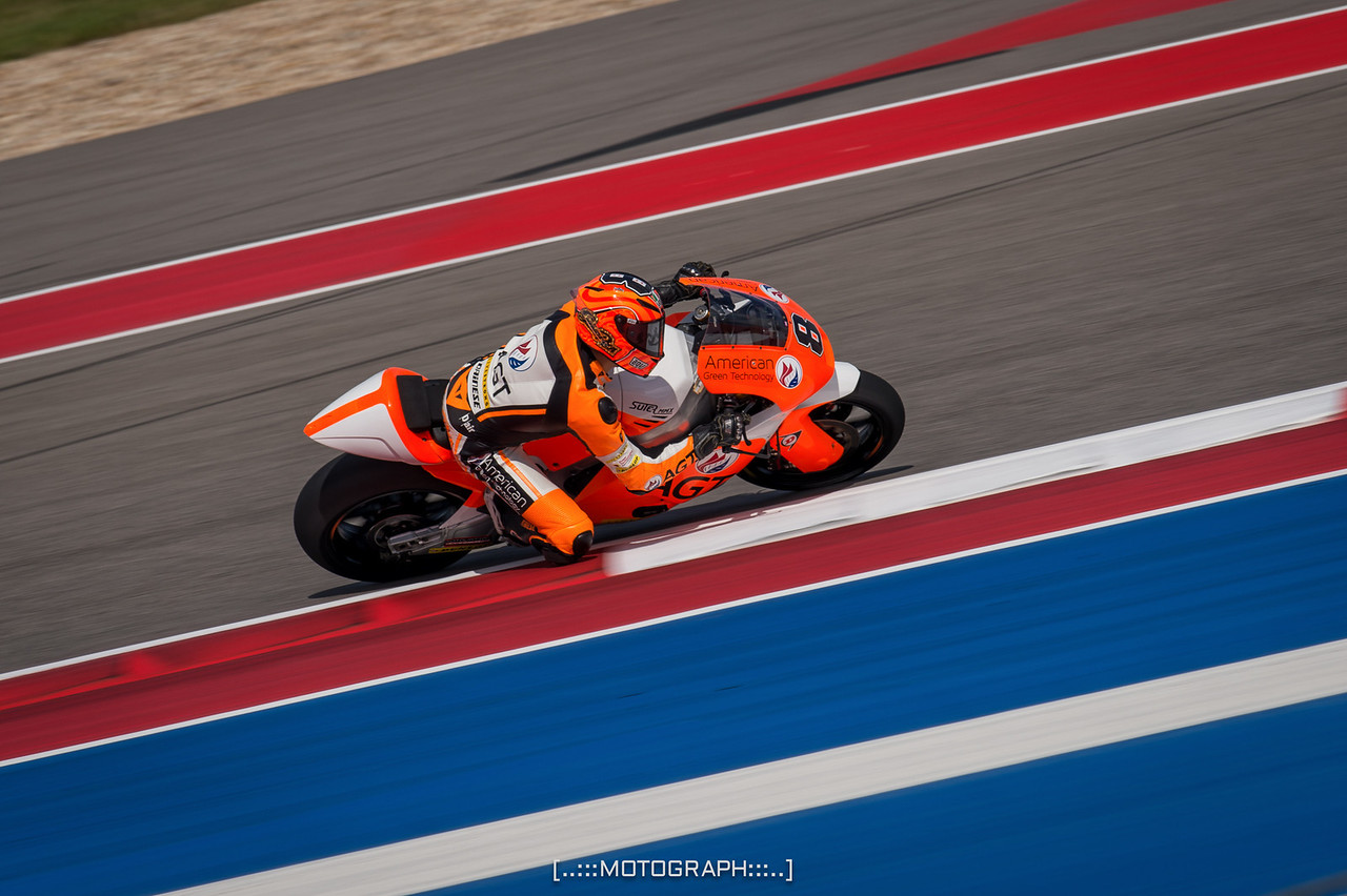 Team AGT-REA Racing's Gino Rea.  The team is based out of Austin Texas