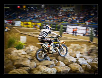 Geoff Aaron on his way to winning the Denver round of the 2010 Endurocross Championship