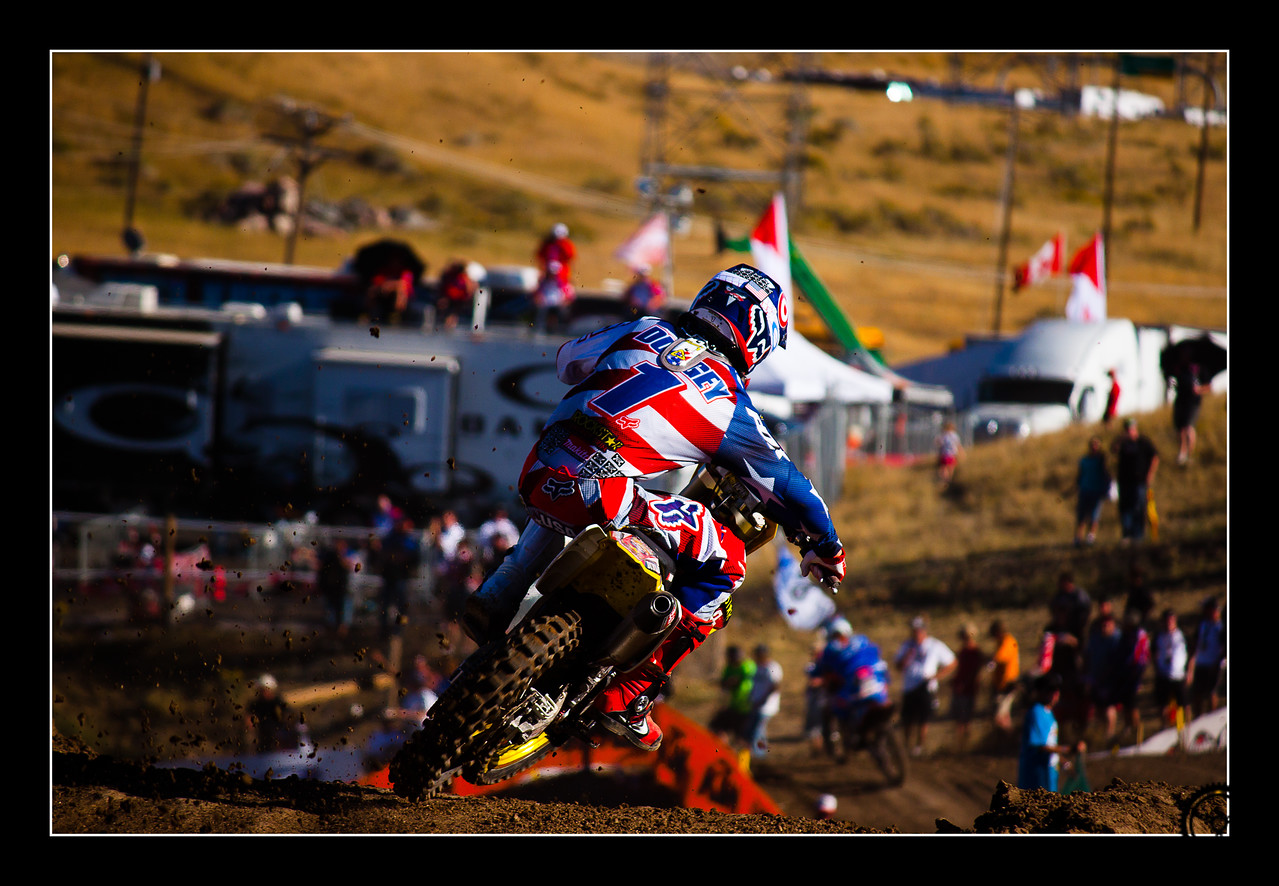 Ryan Dungey scrubbing a stepdown at the 2010 Motocross of Nations
