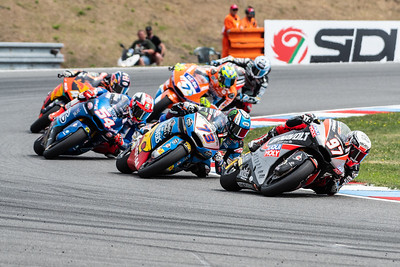 Xavi VIERGE, Alex MARQUEZ and Mattia PASINI, Czech Republic/Brno