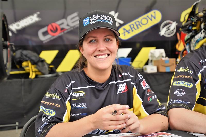 Former Norwegian Superstock Champion Caroline Olsen.