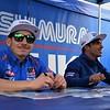 Roger Hayden & Spaniard Toni Elias. They ride for Yoshimura Suzuki.