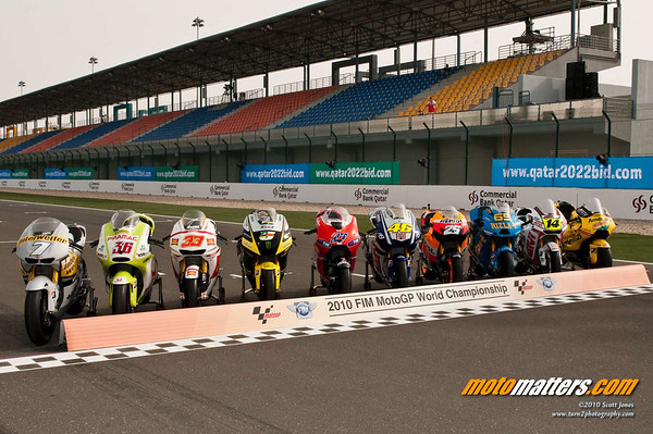 The bikes entered in the 2010 MotoGP season