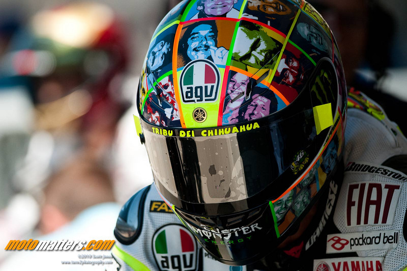 Valentino Rossi at Indianapolis, 2010, after his return from a broken leg - photo Scott Jones