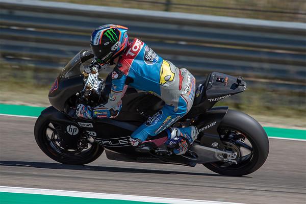 Alex Marquez on the Kalex Triumph Moto2 bike