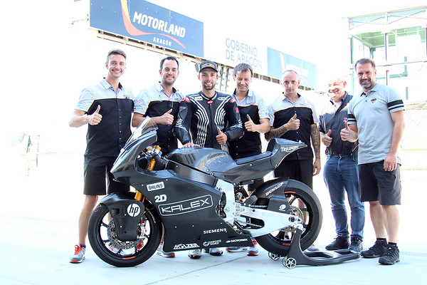 Jonas Folger with the Kalex Engineering group