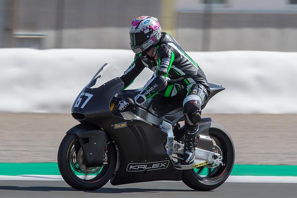 Jesko Raffin on the Kalex Triumph Moto2 bike at Valencia
