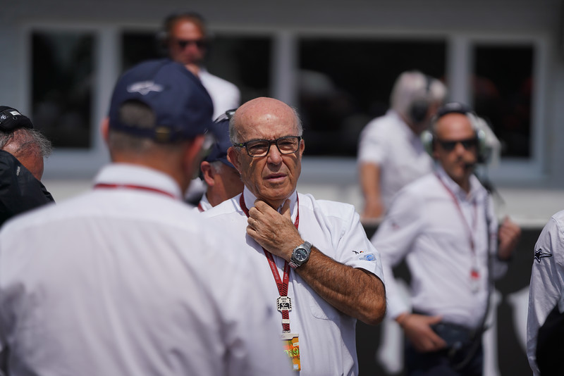 Dorna CEO Carmelo Ezpeleta, pictured here at Brno 2019