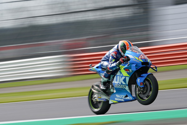 Alex Rins at Silverstone in 2019