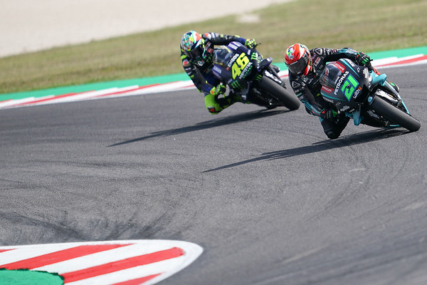Franco Morbidelli and Valentino Rossi at the 2019 Misano MotoGP round