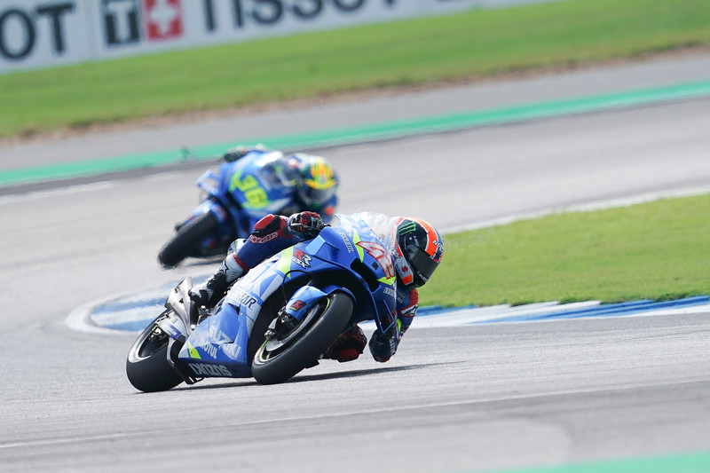Alex Rins and Joan Mir at the Thailand round of MotoGP at Buriram in 2019